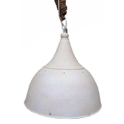 Sweet Living Witte Metalen Hanglamp Jutetouw - 40xH43 cm