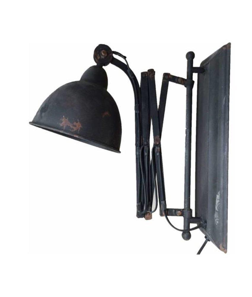Sweet Living Metalen Wandlamp - Zwart
