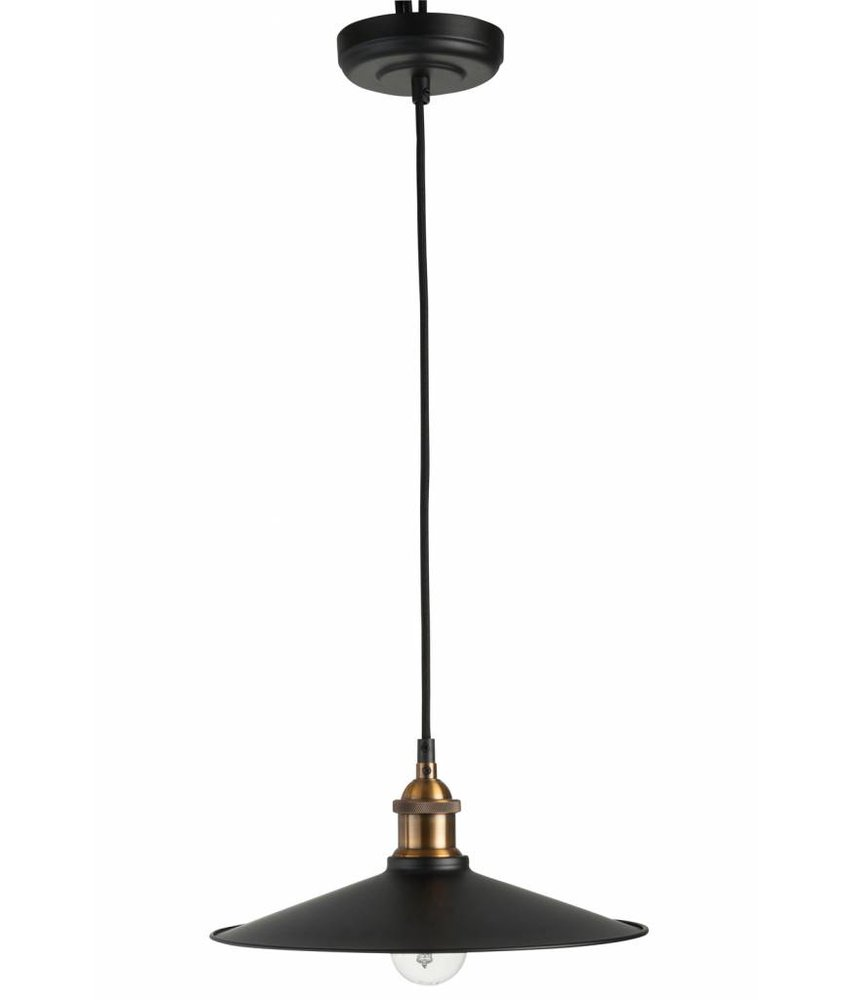 J-Line Hanglamp Modern Zwart Metaal - 20xH120 cm