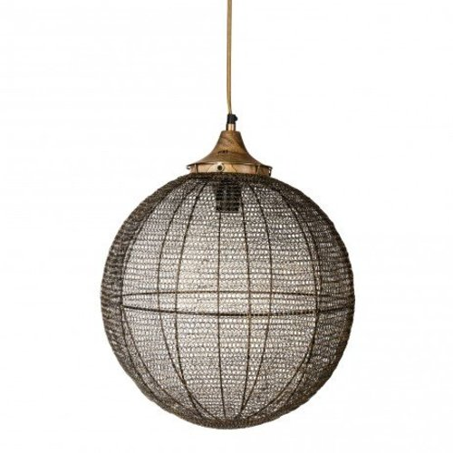 PTMD Hanglamp Messing Bowl - Ø48xH52 cm