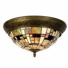 Lumilamp Plafondlamp Tiffany Bruin Blok - Ø38xH19 cm