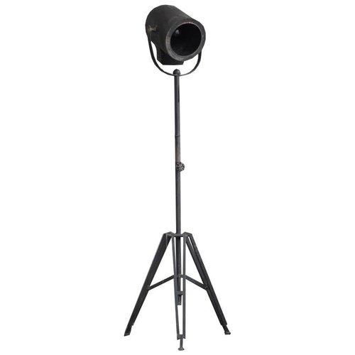 Sweet Living Industriele Vloerlamp Rond Zwart - 49x41xH163 cm