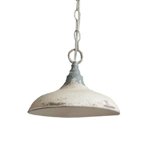 Sweet Living Offwhite Metalen Hanglamp - Ø27xH20 cm