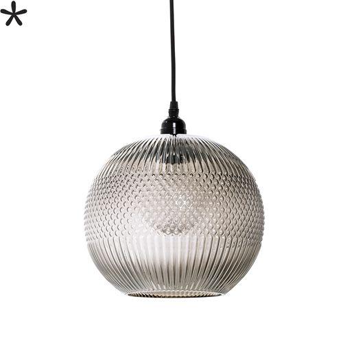 Bloomingville Hanglamp Bruin Glas Ø24xH29 cm