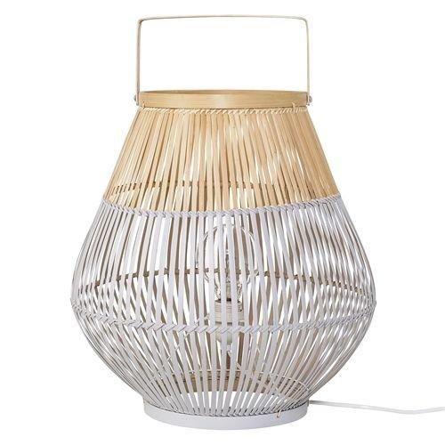 Bloomingville Vloerlamp Bamboe Wit - Ø37xH40 cm