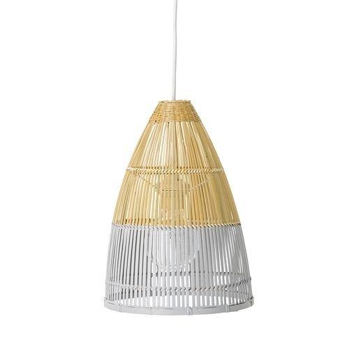 Bloomingville Hanglamp Bamboe Wit - Ø25xH35 cm