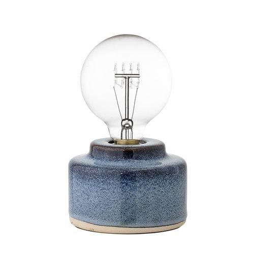 Bloomingville Blauwe Tafellamp Porselein - Ø12xH9 cm