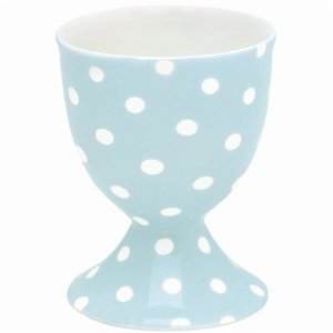 GreenGate Stoneware Egg Cup Spot pale blue