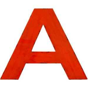 Bloomingville Letter A aus Metall rot