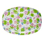 Rice Rect. Melamine Plate Flowers white