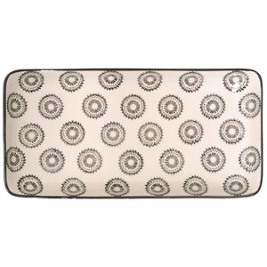 IB Laursen Tablett / Teller Casablanca schwarz weiß
