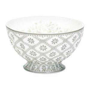 GreenGate Stoneware French bowl Bianca warm grey medium
