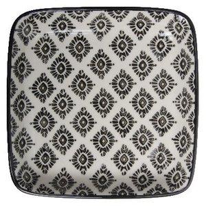 IB Laursen Tablett / Teller Casablanca schwarz quadratisch