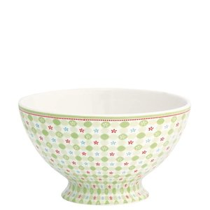 GreenGate Stoneware Soup Bowl Mimi green