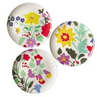 Rice Melamine Dinnerplates Embroydered Flowers