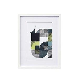 House Doctor Bild T Stroke mit Rahmen 31,4x24,4
