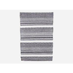 House Doctor Teppich Inka Plastik schwarz weiß, 70x180 cm