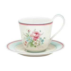 GreenGate Cup&Saucer Marie white