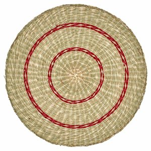 GreenGate Placemat round Nora red Seagrass