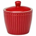 GreenGate Sugar Pot Alice red