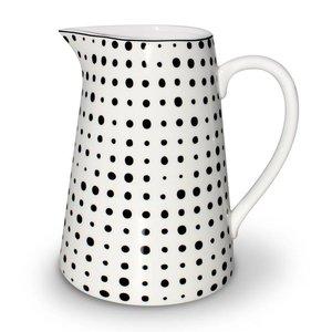 Aspegren Porzellankrug Pearl schwarz, 1 Liter