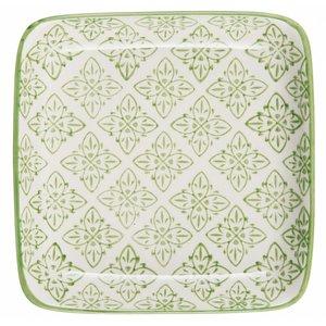 IB Laursen Tablett / Teller Casablanca  grün  quadratisch