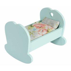 Maileg Kleine Wiege blau für MY Baby