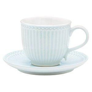 GreenGate Tasse mit Untertasse Alice pale blue