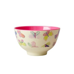Rice Small Melamine Bowl with Butterfly Print