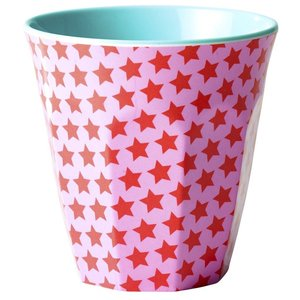 Rice Medium Melamine Cup with Girls Star Print