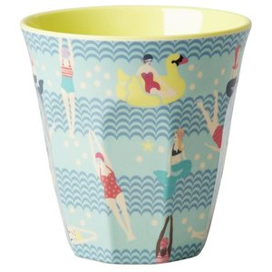 Rice Medium Melamine Cup with Swimster Print