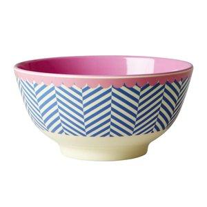 Rice Melamine Bowl with Sailor Stripe Print