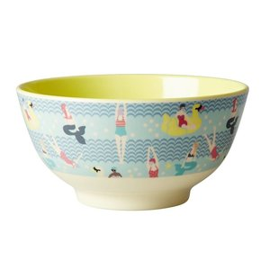 Rice Melamine Bowl with Swimstar Print