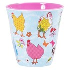 Rice Medium Melamine Cup with Hen Print