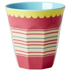 Rice Medium Melamine Cup with Striped Print