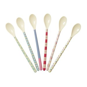 Rice Melamine Latte Spoon in 6 Assorted 'Go The for the Fun' Prints