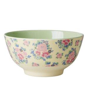 Rice Melamine Bowl with Dutch Rose Print