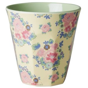 Rice Medium Melamine Cup with Dutch Rose Print