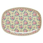 Rice Rectangular Melamine Plate Dutch Rose