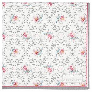 GreenGate Paper Napkin small Daisy pale grey, 20pc