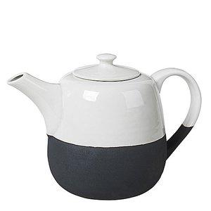 Broste Copenhagen Tea Pot Esrum 14,5/23,5x15,5 ivory/grey