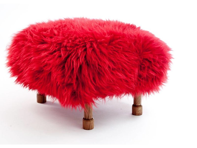 Baa Stool Delyth - Dragon Red