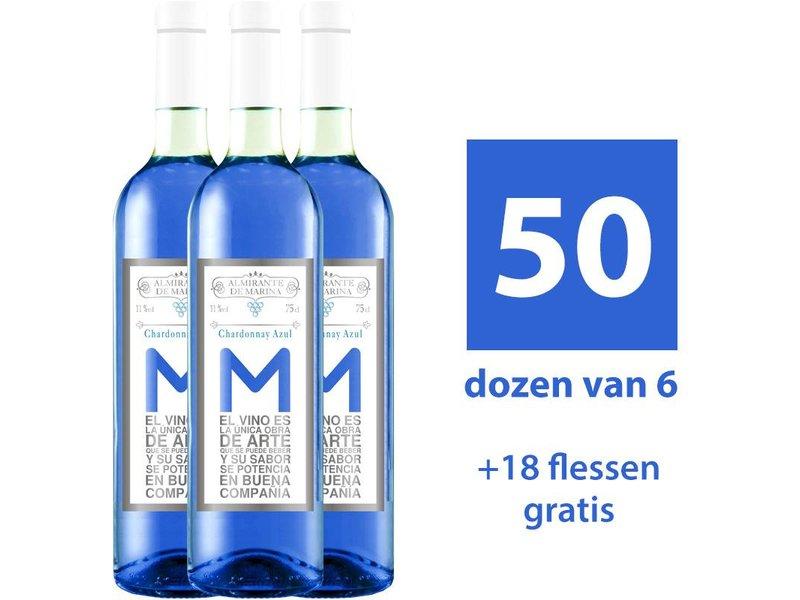 Almirante de Marina Vino Azul Chardonnay - 50x6 (+ 18 Flaschen gratis)