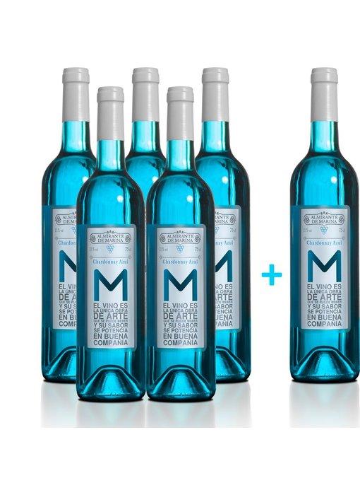 Vino Azul Chardonnay - 5+1 flessen