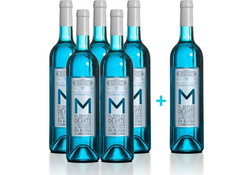 Almirante de Marina Vino Azul Chardonnay - 5+1 flessen