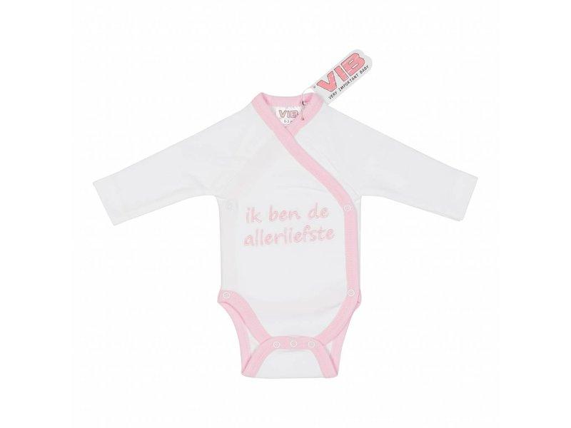 Very Important Baby Romper Ik Ben De Allerliefste – Wit/Roze