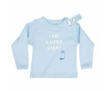 T-shirt I AM A LITTLE REBEL! – Blauw