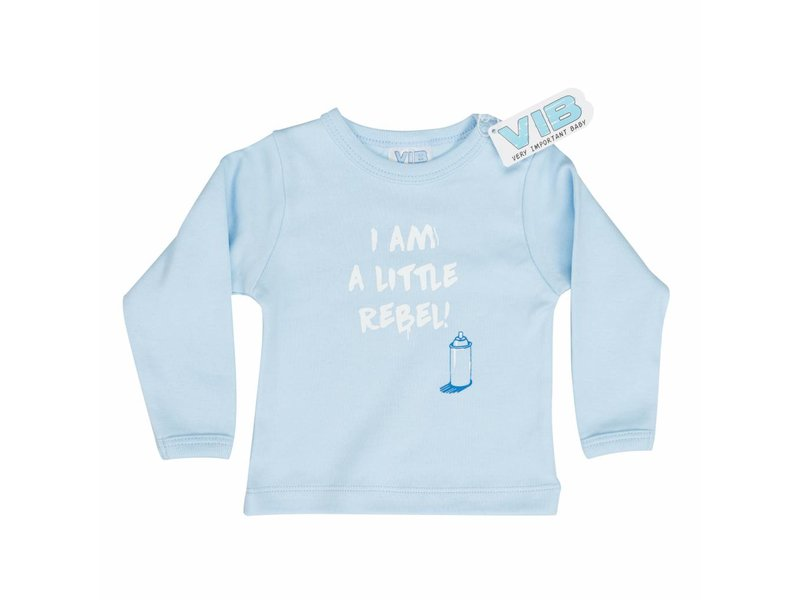 Very Important Baby T-shirt I AM A LITTLE REBEL! – Blauw