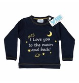 Very Important Baby T-shirt I Love You To The Moon And Back – Navy