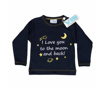 T-shirt I Love You To The Moon And Back – Navy